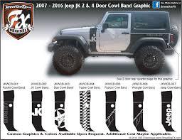 matte silver jeep jeep wrangler graphics wrangler stripes u0026 jk graphics u2013 streetgrafx