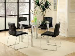 Square Glass Dining Table For 4 Chair Glass Dining Tables Modern Room Photo Of Well Table And 4
