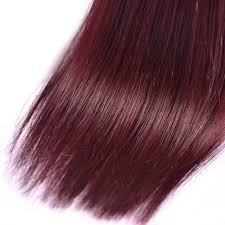 top 7a red wine brazilian human hair straight 99j color cheap hair