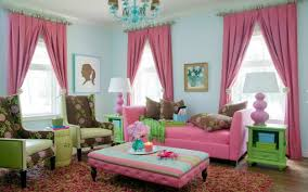 living room amazing cute living room curtain pink color ideas