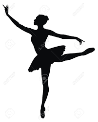 abstract vector illustration of dancing ballerina royalty free