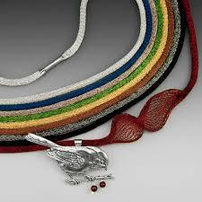 titanium necklace images Titanium mesh necklaces judie gumm designs in silver bronze and jpg