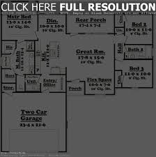 3 bedroom 2 bath ranch floor plans house plans 1600 to 1700 square feet 3 bedroom 2 bath sq ft
