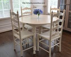 marvelous shabby chic round dining table and chairs about interior