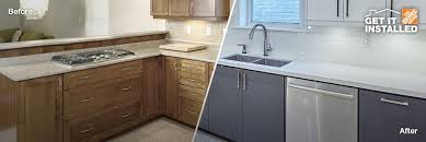 kitchen cabinet refacing at home depot kingston kitchen cabinet supplies refacing services home