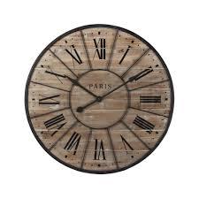 planche de bouleau reloj de madera y metal diám 90 cm valmy decoracion pinterest