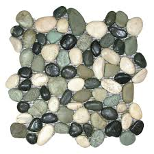 glazed bali turtle pebble tile pebble tile shop