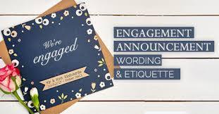 engagement announcement cards engagement announcement wording and etiquette amolink