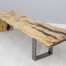 Yew Side Table Live Edge Yew Slab Coffee Table Bespoak Interiors