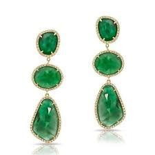 emerald drop earrings buy yellow gold emerald diamond organic drop earrings
