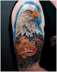 eagle tattoo ideas for men on sleeve with quote eagles tattoos