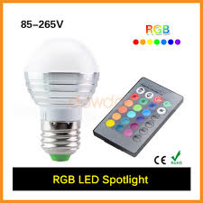 Remote Controlled Light Fixture by E27 Remote Control 16 Color Rgb Led Bulb Light E27 Remote Control