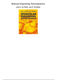 molecular engineering thermodynamics pdf