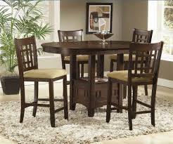 randolph 5 piece cherry round counter height dining table set