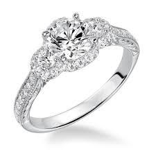 goldman wedding bands f goldman three halo engagement ring and matching wedding