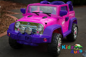 pink kid car jeep pink electric ride on toy cars kidz auto