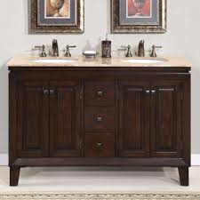 60 Inch Double Sink Bathroom Vanities by 55 Jessica Bathroom Vanity Double Sink Cabinet English Chestnut