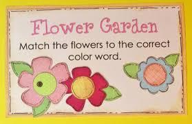 flower garden file folder game kindergarten kindergarten