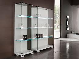 White Bookcase With Cabinet by White Bookshelf With Glass Doors Choice Image Glass Door