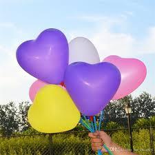 heart shaped balloons heart shaped balloons and holder sticks colors pearl balloon