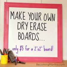 make your own dry erase boards for 5 becoming martha