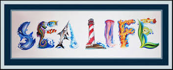 themed paintings aquatic theme name sealife personalized name paintings