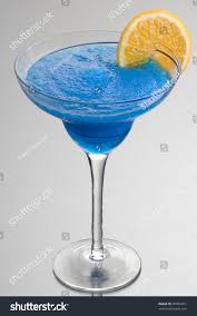 blue hawaiian cocktail frozen blue hawaiian mixed drink orange stock photo 45906361
