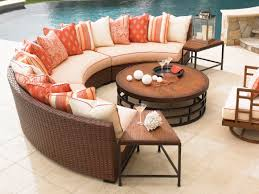 Rattan Curved Sofa Irresistible Wooden Dining Table Set Presenting Four