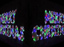 merry led rope light sign in liverpool merseyside fia