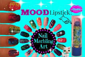 make your own custom nails marbling bonus mood lipstick