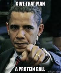 Protein Meme - give that man a protein ball angry obama make a meme