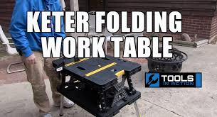 keter portable work table keter folding work table youtube