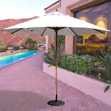 Galtech Replacement Canopy by Galtech 11 Ft Octagonal Hardwood Patio Market Umbrella W Pulley