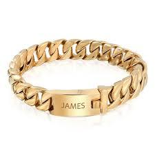 gold hand bracelet images 12mm steel large cuban curb chain unisex bracelet 8in jpg