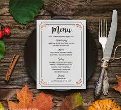 free printable thanksgiving menu mountainmodernlife