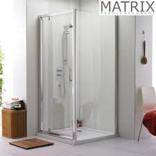 700mm Shower Door Matrix 700 X 700mm Premium Economy Pivot Door Shower Enclosure