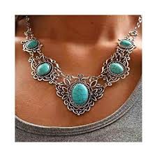 turquoise necklace set images Chicer bohemian turquoise necklace earrings set jpg