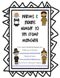 thanksgiving ten frame freebie pilgrims indians by i my
