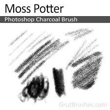 moss potter photoshop charcoal brush grutbrushes com