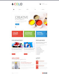 painting company responsive website template 52119