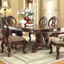 pedestal dining table with leaf pedestal dining room table double set a with leaf cvid