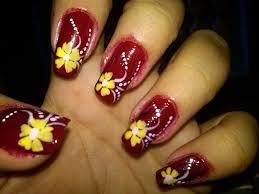 nail art hawaiian flower nail art designs for beginners design