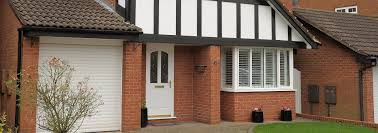 bay bow windows smiths glass white upvc bay window and entrance door