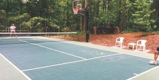Backyard Tennis Courts by Basketball Tennis Multi Sport Outdoor Diy Game Court Kits