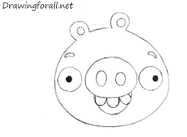 draw pig angry birds drawingforall net