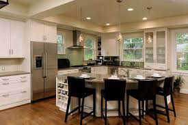 island in a kitchen simple circular kitchen island on decorating