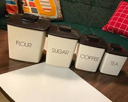square kitchen canisters vintage kitchen canisters etsy