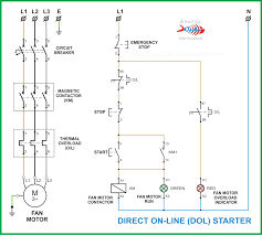 motor start stop time sequence electrical control circuit using