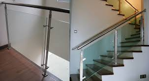 Chrome Banister Glass Staircase Glass Stairs Railing Silica Studio All Glass