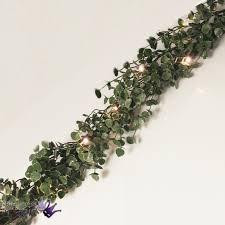 gisela graham frosted eucalyptus led garland glitter
